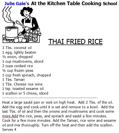 Thai Fried Rice Julie Gale